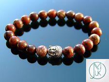 Buddha Poppy Jasper Natural Gemstone Bracelet 7-8'' Elasticated Healing Stone