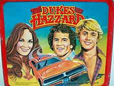 D1000066 DUKES OF HAZARD LUNCHBOX & THERMOS 1980 METAL LUNCH BOX BO LUKE DAISY