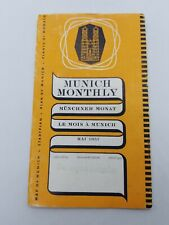 Munich Monthly 1957 travel guide handbooks for travellers?