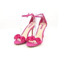 Calzado de mujer sandalias con tiras rosa, talla 39