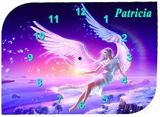 horloge pendule murale ange prénom texte au choix réf F 14
