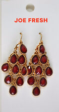 Nordstrom Joe Fresh Women Red Crystal Chandelier Dangle Earrings Fashion Jewelry
