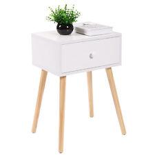 Coffee Tea/End Table Storage Drawer Modern Wood Furniture Living Room White