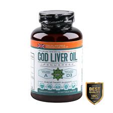 COD LIVER OIL 60 x 1000mg | FENUGREEK | Omega-3 | Vitamin D3 | Immunity