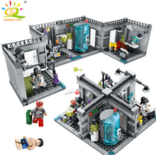 US City Police Biochemical Lab Series Building Blocks with Figures Toys Bricks