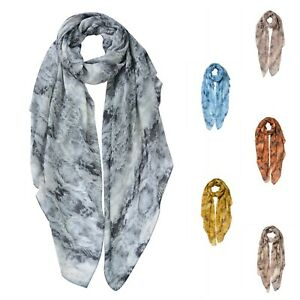 Woman Lady Cotton Blend Classic Boutique Gradient Snakeskin Print Scarf UK