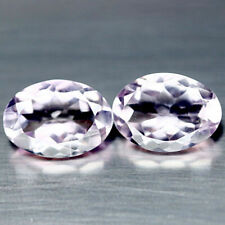 9.29 Carats PAIR Natural Light Purple AMETHYST for Jewelry Setting Oval