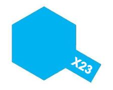 Tamiya 81523 Glossy Acrylic Paint X23 Transparent Bleu (10ml) Modélisme