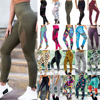 Women's Yoga Leggings Fitness Sports Trousers Exercise Workout Running Gym Pants