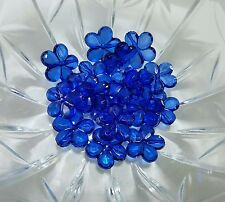(16) 20mm royal blue flower acrylic beads for chunky necklace
