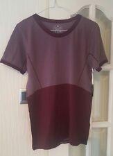 Manuka Deep Purple Seamless Yoga Top T-shirt M/L 12/14 Sports Gym Exercise