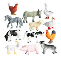 12pcs Farm Animals Figures, Realistic Simulation Jumbo Domestic Animal Toys