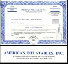 American Inflatables Inc 2001 Stock Certificate
