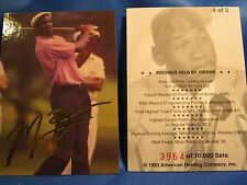 MICHAEL JORDAN GOLF CARD FROM 1993 AMERICAN HOLDING CO. LOT OF 10 CARDS