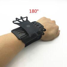 Mobile Phone Holder 180 Degree Rotating Wrist Strap Bracket Sports Running Black