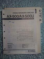 Yamaha ax-500 u service manual original repair book stereo amp amplifier