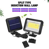 Cob 100LED Lampe Solaire Extérieur Spots Avec Détecteur de Mouvement Lumière