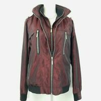 D^BLJU by Jiniy Size XL Burgundy Full Zip Front Jacket with Hidden Hood