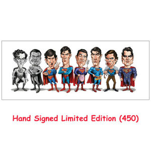 """DC Superman """"Men of Steel"""" 11″ x 28″ Hand Signed Limited Edition (450) Print"""