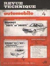 Revue Automobile PEUGEOT 505 TI STI RENAULT 16 L TL Automatic - No 403 Sep. 1980