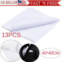 13 PCS Men's Handkerchiefs 100% Cotton Classic Hankies Hankerchief White