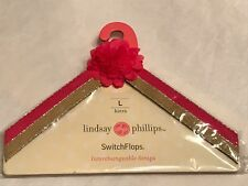 New Lindsay Phillips SwitchFlops Kiera straps pink yellow gold small 5-6