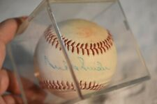Curt Flood signed Wilson Senior Professional Baseball with Duke Snider in Case-1