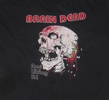 VTG 1992 Daytona Bike Week BRAIN DEAD AND LIKING IT Men's T-shirt XXL 90s Skull
