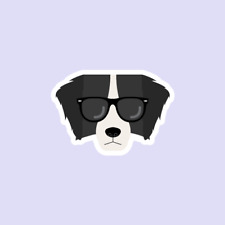 Border Collie Dog Hipster Sticker Style cute pet animal Gift