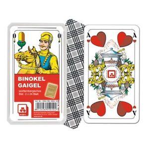 Gaigel Kartenspiel württembergisches Blatt in Kunststoffbox 6.0 Binokel
