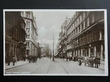 Glamorgan CARDIFF High Street shows JAMES HOWELL DEPT STORE c1920's RP Postcard