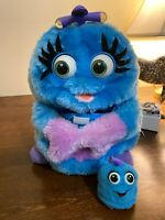 Vintage 1999 Trendmasters Wuv Luv Plush Interactive Talking Toy Blue Mom W/Baby
