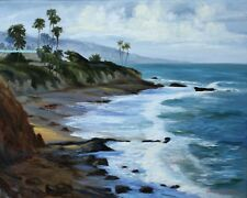 Laguna Beach California Morning View Seascape Original Oil 16x20
