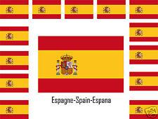 Assortiment lot de 25 autocollants Vinyle stickers drapeau Espagne-Spain-Espana