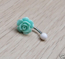 2pcs Handmade Rose Flower belly button jewelry bellybutton ring Body jewelry