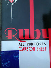 50 X A4 CARBON PAPER SHEETS HAND COPY  -  BLUE