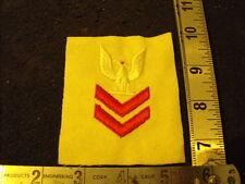 Vintage US Navy Red Rank Patch White Felt, Era Uknown