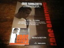 EROS RAMAZOTTI - Plan média / Press kit !!! ROMA LIVE !!!