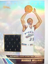 2004 TOPPS BASKETBALL GAME JERSEY MAURICE WILLIAMS JE-MW JAZZ  BOX54