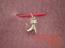 925 Sterling Silver CAT Charm Pendant w/Jump Ring