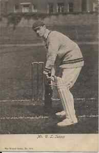 Cricket, G.L. Jessop, sepia postcard, by Wrench 1688, undivided back