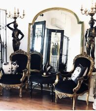 Large French Style Vintage Wall or Floor Mirror Bridal Dressing Room