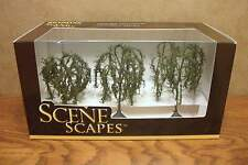 """BACHMANN SCENE SCAPES HO SCALE 3"""" - 3.5"""" WILLOW TREES  (3) TREES/BOX"""