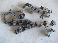 Lot of Vintage O Scale Train Cart Parts Trucks Metal Rails Look