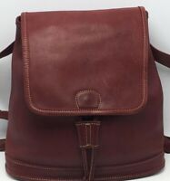 Vintage Coach #D0P-9315 Dark Red Soft Leather Daypack Backpack Purse