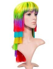 Extensions de cheveux multicolores long raides pour femme