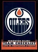 2020-21 O-Pee-Chee Retro Black Team Checklist 562 Edmonton Oilers /100