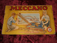MECCANO. MANUEL D'INSTRUCTION N° 3 ( 1951/1952 ).  REF 1151