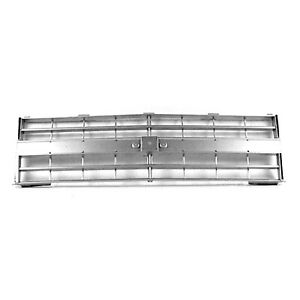 New Front Grille With Molding Holes Light Silver 15554911 P