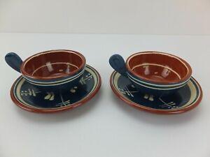Pair Vintage Retro Scandi NITTAJO Made in Sweden Cup & Saucer Set